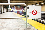 Moving subway train and Motion blur with Safety Interdiction Sig