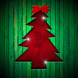 Christmas Tree Shape cut on Green Wall