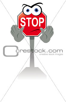 Angry Stop Sign