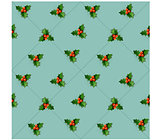 Holly berry with leaves.  Christmas seamless pattern.
