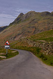 Steep road in Cumbria