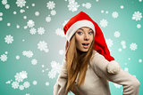 funny girl with christmas style