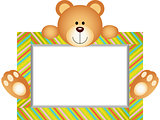 Teddy Bear With Blank Label