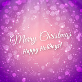 Merry Christmas. Blurred Festive Vector Background. Greeting Card