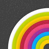 Rainbow Colored Circles On Dark Starry Background
