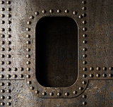 old metal porthole background