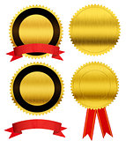 gold seal medals collection isolated