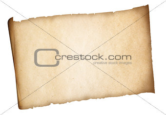 Old paper set with wax seal isolated. Clipping path is included.