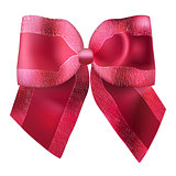 Superb red bow for gifts and decorations