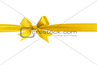 handmade yellow ribbon bow horizontal border