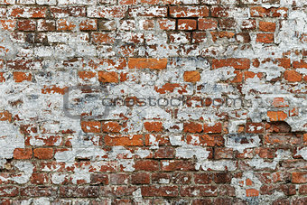 old fortress brick wall