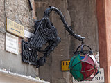 old street lamp in Venice