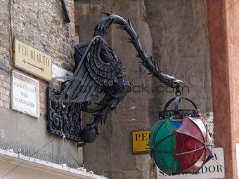 old street lamp in Venice