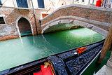 Gondola berthed