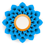 Background beautiful blue flower on white background.