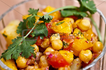 Asian food - Aloo Chana mango chat
