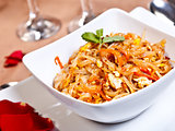 Indian side order food - Phad thai gung