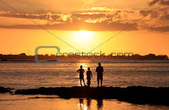 Three young fishermen