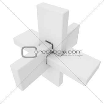 Abstract 3d figure