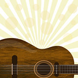 Guitar with sunburst background