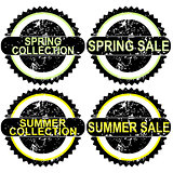 Spring sale and summer sale rubber stamps