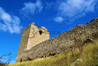 Tower of Coltesti fortress built in the 13th century in Transylv