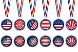 USA medals and buttons