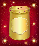 Universal blank holiday moneybox tin can