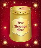 Text template moneybox tin can