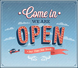 Come in we are open typographic design.