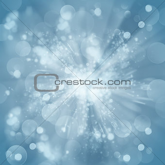 blue christmas bokeh background