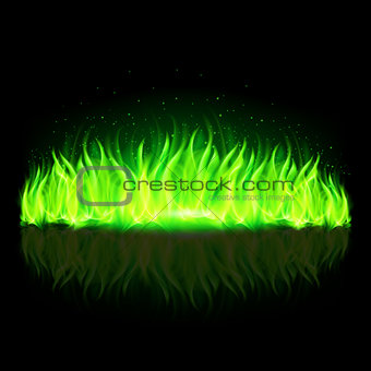 Green wall of fire.