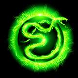 Green fire snake.