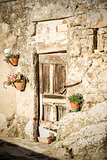 door with wall in tuscany