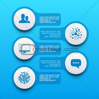 Clean Circle Label Elements