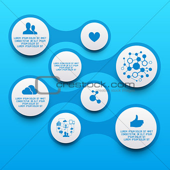 Clean Circle Infographic Elements