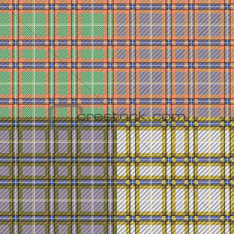 Four seamless checkered patterns