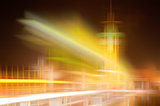 Blurred city skyline abstract colorful background