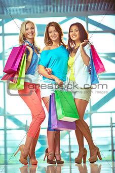 Three shoppers
