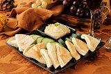 Pita and hummus platter