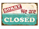 Shop Closed Enamel Sign