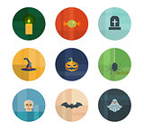 Collection of Nine Vector Halloween Icons