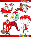 Santa and Christmas Cartoon Set