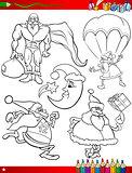 cartoon christmas themes coloring page