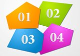 Tech vector colourful shapes background