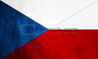 Czech grunge flag
