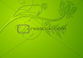 Bright vector floral background
