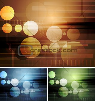 Bright abstract hi-tech backdrops
