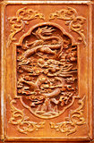Dragon design on the wooden door