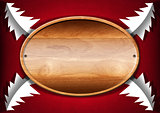 Christmas - Oval Wood Board